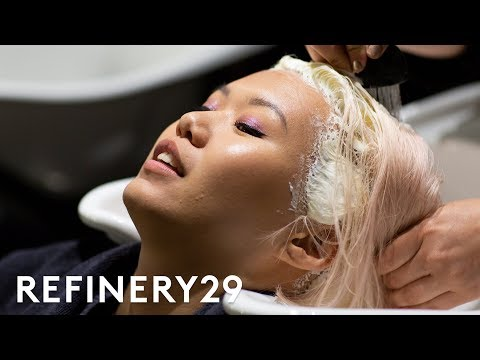My Pastel Pink To Lilac Hair Color Transformation   Beauty With Mi   Refinery29