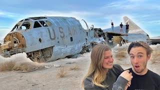 We found 3 Crashed AIR-FORCE Planes in the middle of nowhere...