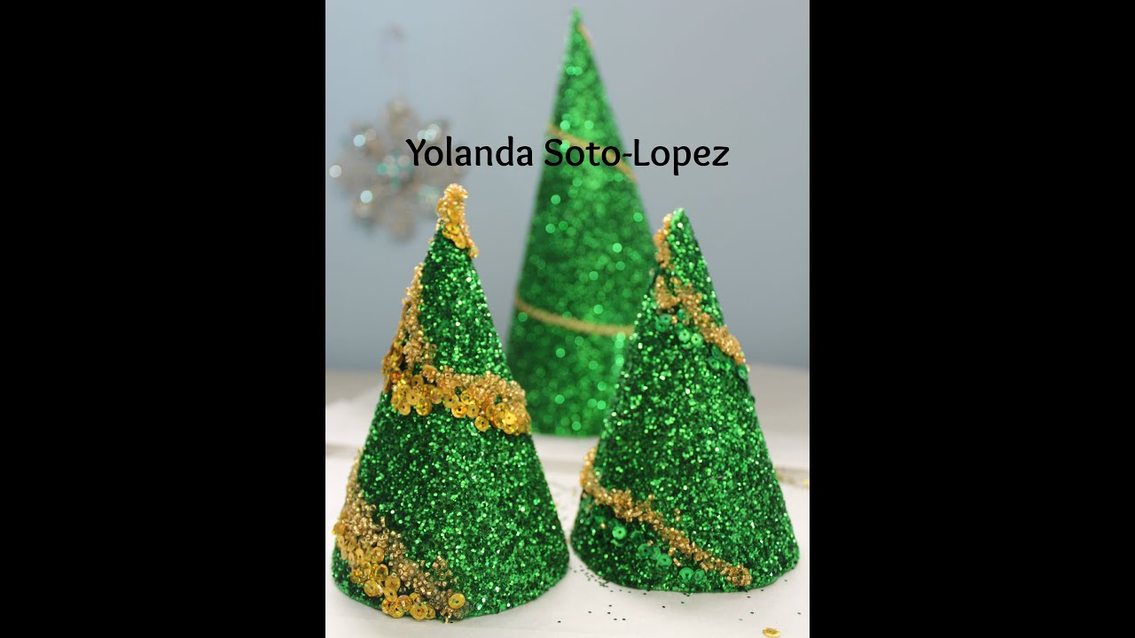 easy to make glitter christmas tree decorations