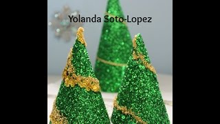 #glitter #christmas Tree Decorations