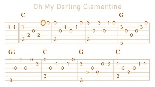 Oh My Darling Clementine on Guitar - Melody Enjoyer