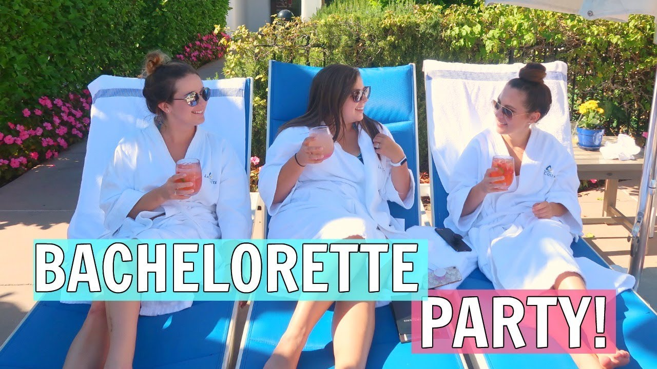 throwing a bachelorette party spa day youtube