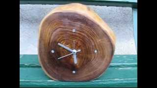 Woodworking Project - Making A Table Clock From A Natural Acacia Log