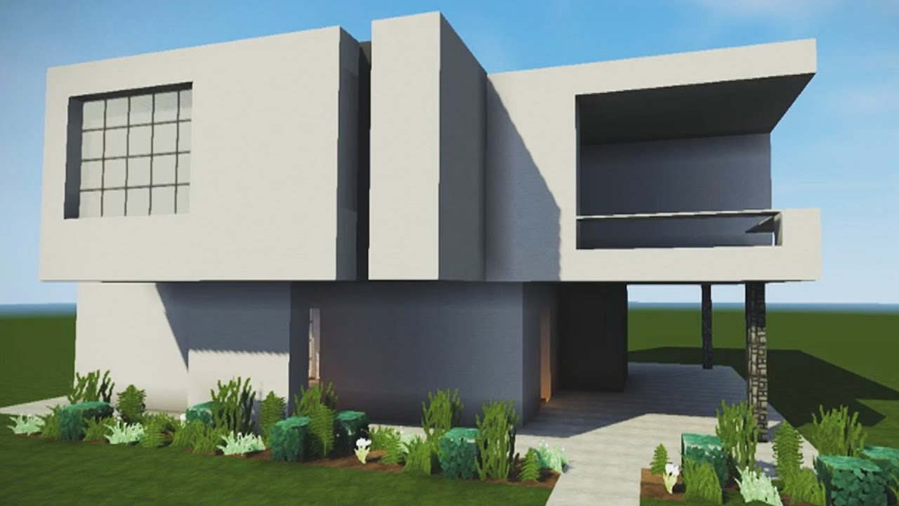 How to build an epic modern house in minecraft easy pc for Modern house xbox minecraft