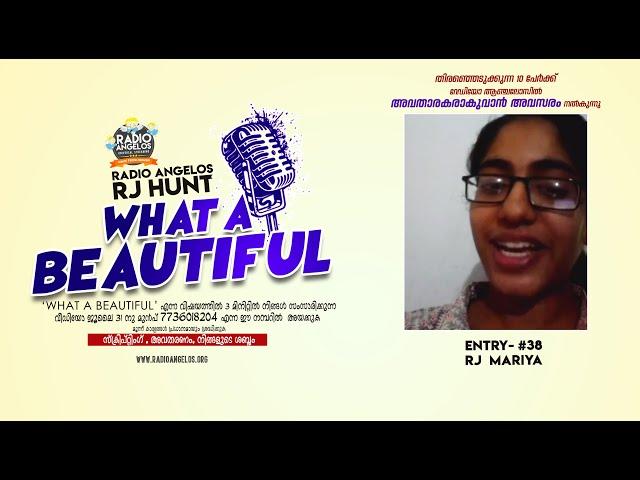 #38 RJ MARIYA || WHAT A BEAUTIFUL || RJ HUNT ENTRY