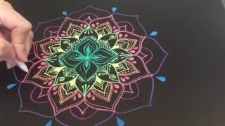 How to draw a mandala - #16 Gelly Roll - Nicky Kumar Art