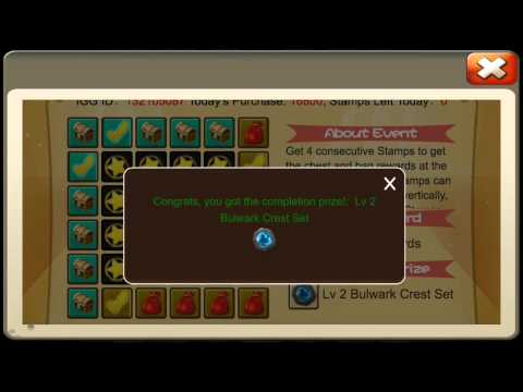Castle Clash BINGO Buying FULL Card And Showing ALL Prizes Heros Cards + More