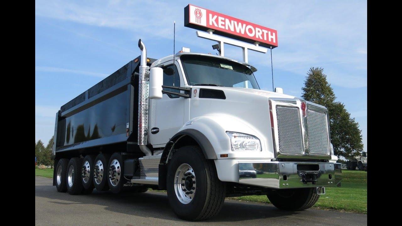 Six Axle Truck : Kenworth t axle dump truck r sold youtube
