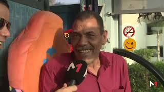 دردشة نوفل العواملة مع سائق حافلة المنتخب المغربي في