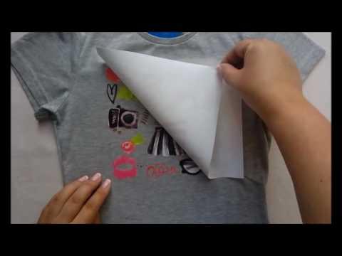 Как украсить футболку за 5 минут Термотрансферы