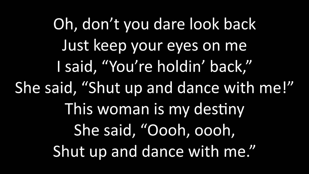 Shut up and dance dating site 4