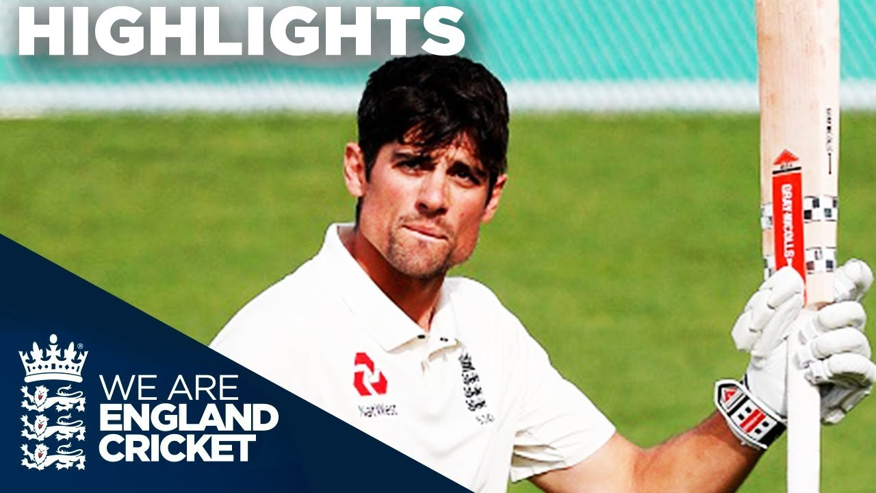 Cook Hits Emotional Century In Final Ever Innings | England v India 5th Test Day 4 2018 - Highlights