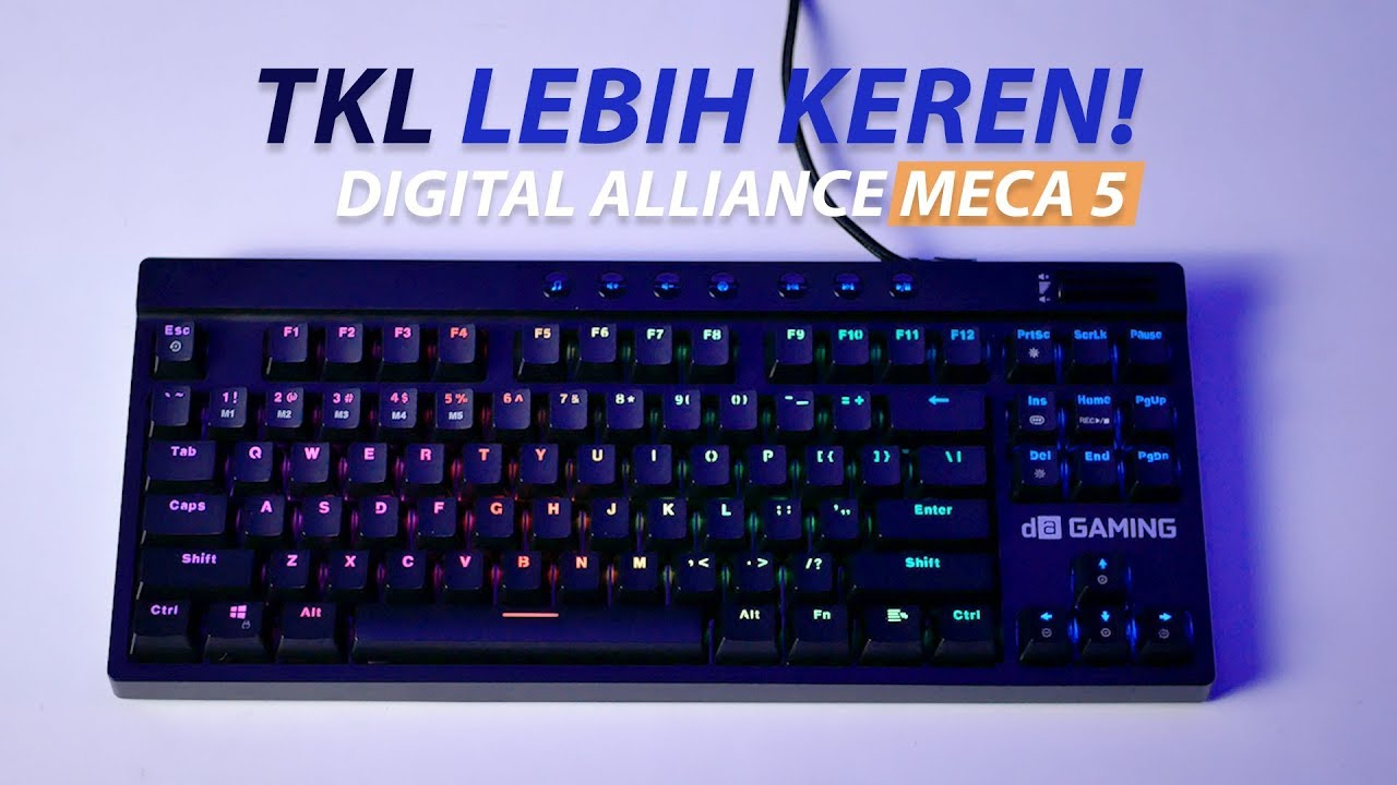 Keyboard Gaming TKL Baru Auto Idaman ?? 🤔🤔 | Review Digital Alliance Meca 5