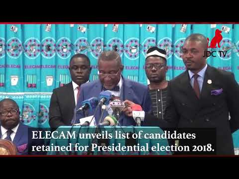 List of candidates retained for presidential election 2018.