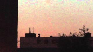 Спутник «Ресурс-П» и ракета-носитель «Союз-2.1б» в небе над Челябинском 25.06.2013