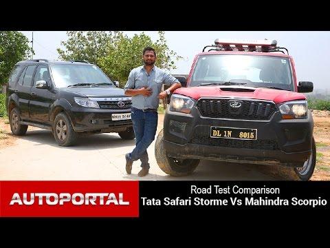 Tata Safari Storme Vs Mahindra Scorpio Test Drive Comparison - Auto Portal