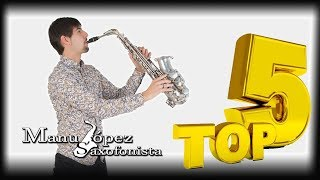 TOP 5 saxophone covers by Manu López on Youtube