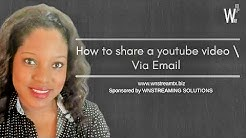 How to Share a Youtube Video via Email