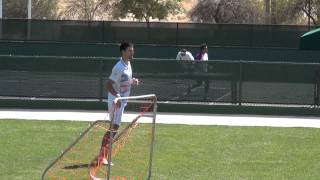 NOVAK DJOKOVIC PLAYS SOCCER AT INDIAN WELLS ( MARCH, 14, 2012)