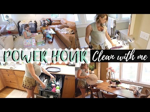 NEW! POWER HOUR | EXTREME CLEANING MOTIVATION | SUMMER CLEAN WITH ME | SAHM