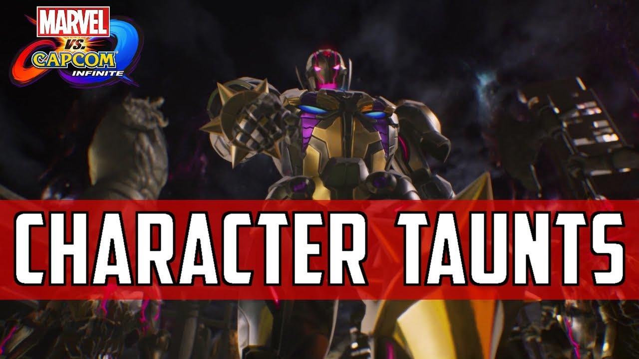 Marvel vs Capcom Infinite: Character Taunts   Launch HD