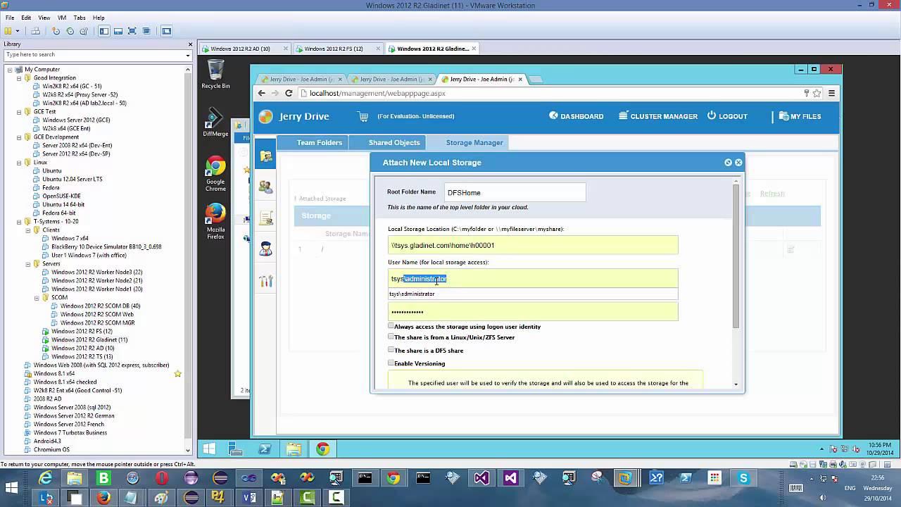 Gladinet Cloud Enterprise DFS Support