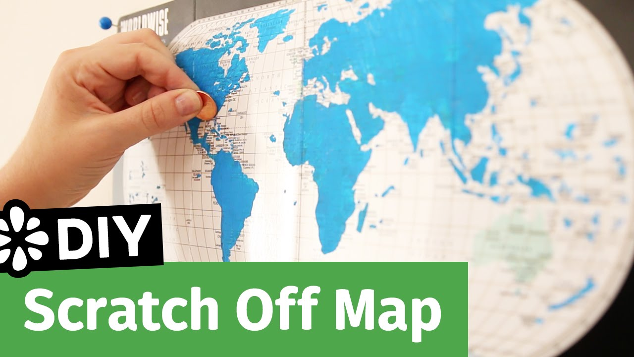 Diy scratch off map sea lemon youtube diy scratch off map sea lemon gumiabroncs Images