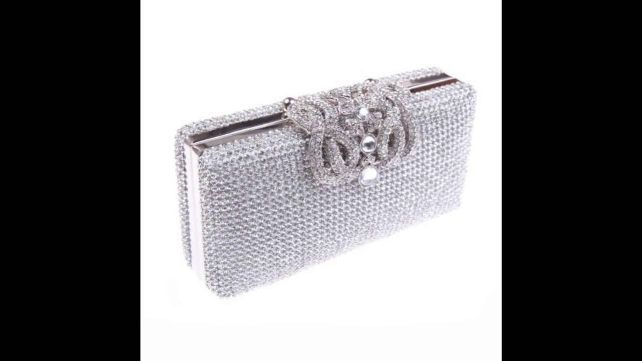 Fawziya Bling Crown Clutch Purse Rhinestone Crystal Hard Case Evening  Clutch Bags-Silver. 9156f66375cd
