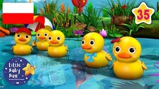Pięć małych kaczuszek |  Zestaw 30 minut piosenek dla dzieci   | Little Baby Bum Po Polsku