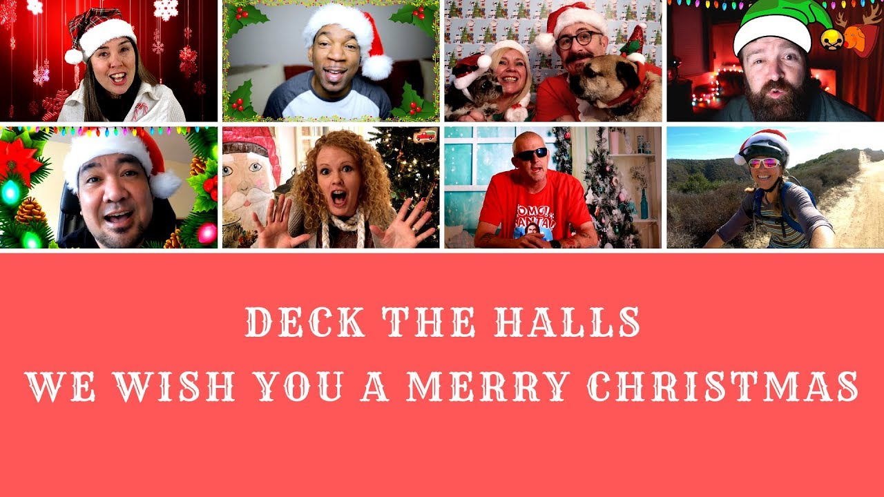 Deck the Hall We Wish You a Merry Christmas - Sing along - YouTube