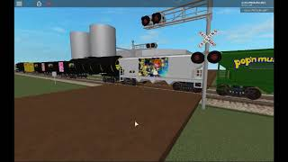 ROBLOX Railroad Crossing Test 1 (AWVR 777 and AWVR 767 Train)