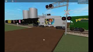 ROBLOX Railroad Crossing Test 1 (AWVR 777 and AWVR 767 Train)