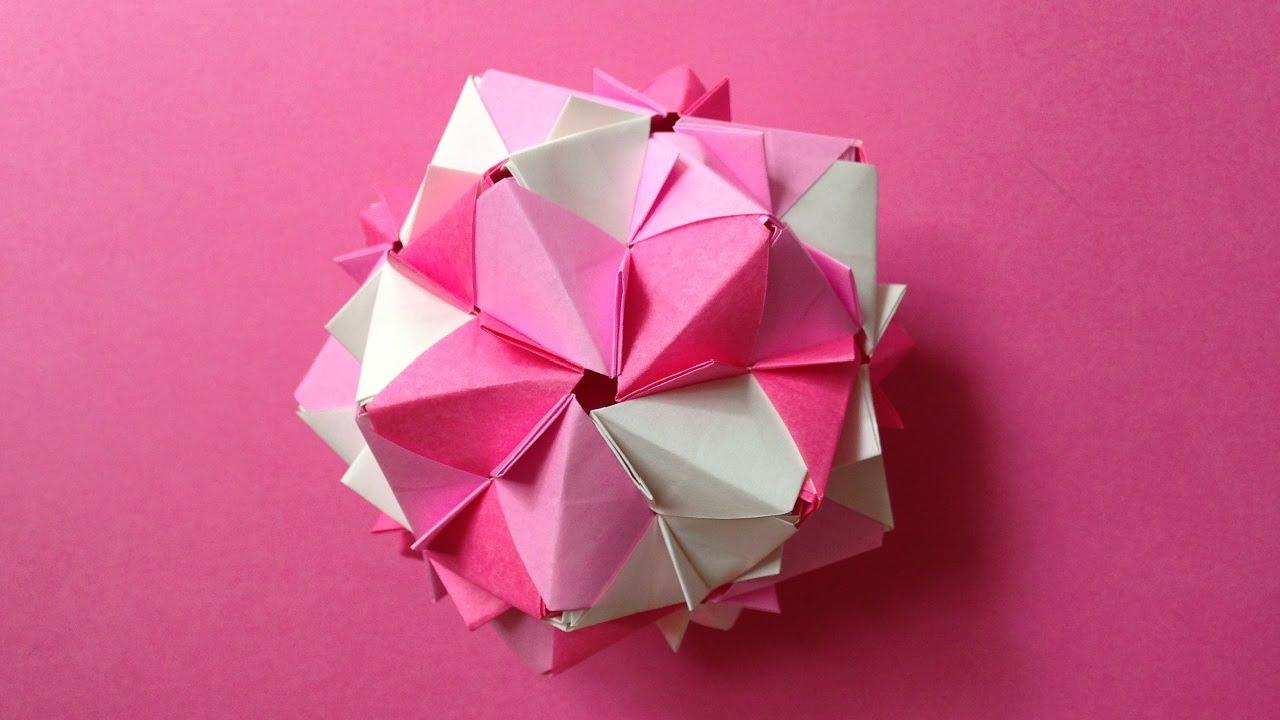 Origami Kusudama Decoration Folding Flower 30units Instructions 折り紙 の くす玉