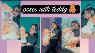 Poses With Teddy Bear 🧸 Easy Poses Photos Idea Adoresparkle