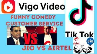 Jio Vs Airtel Funny Comedy Video    Tik tok, Vigo Video Status and WhatsApp status   Comedy Masti?