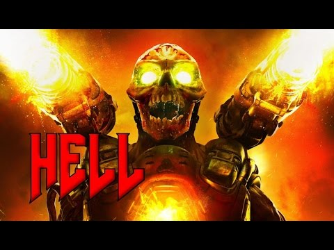 DOOM 4 (2016) - Hell Level Gameplay Walkthrough and Secrets - Gauss Cannon