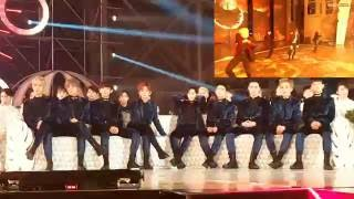 Video Exo react to Bts Blood Sweat&Tears and Fire at MMA 2016 download MP3, 3GP, MP4, WEBM, AVI, FLV Maret 2017