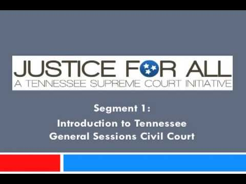 Introduction to the Tennessee General Sessions Court