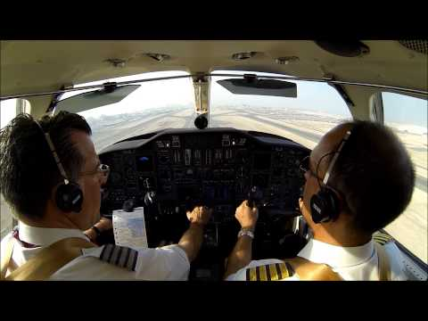 Citation V - IFR departure at Doha, Qatar - cockpit view!