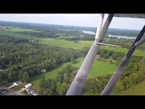 Flying Over Lake James - Angola, Indiana