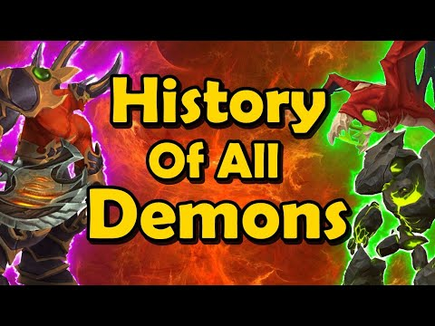 The Brief History Of ALL Warlock Demons In WoW (Vanilla WoW To BfA)