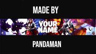 Top 5 Banners Of The Week l Fortnite Banner Templates l Channel Art l Photoshop CS6 l #2