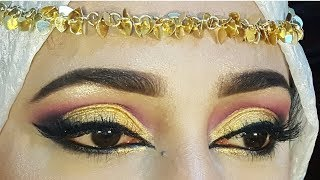 Arabic eyes makeup//how to do eye makeup for begginers_zainab numan
