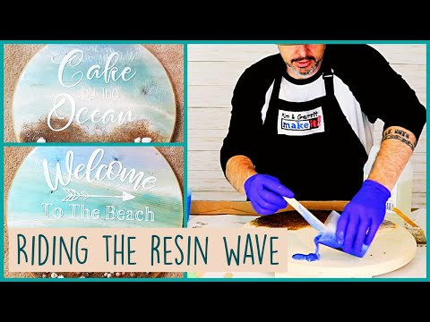 2 Epoxy Resin Seaside Ocean Signs | Ocean, Beach, Sand & Movement