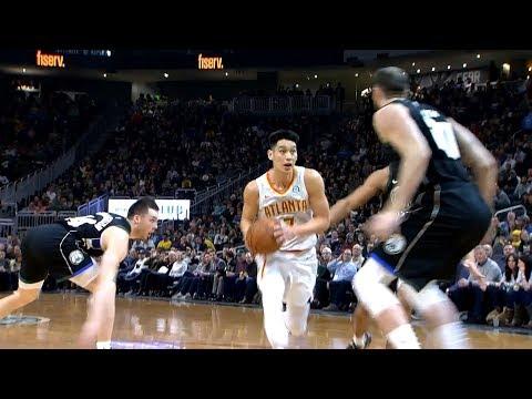 Jeremy Lin Highlights - Hawks at Bucks 1/4/19