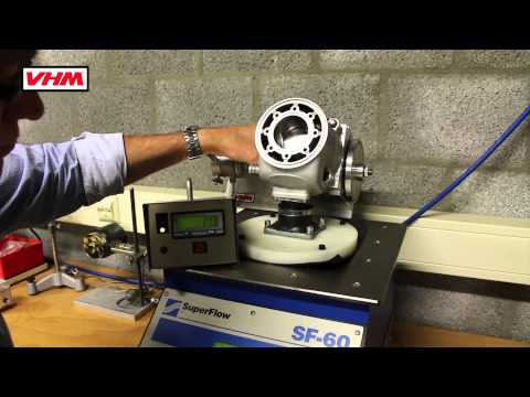 VHM exhaust port flow measurement with VHM's top flat radius and 4