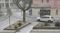 Drôme : arrivée de la neige à Pierrelatte
