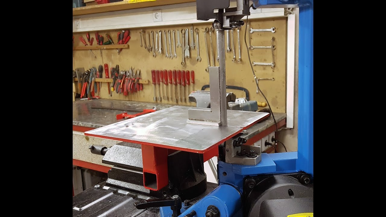 sägetisch für metallbandsäge / saw table for metal ribbon saw - youtube