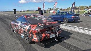 900HP+ Honda Integra Turbo WKT vs 800HP BMW M6 Manhart Performance