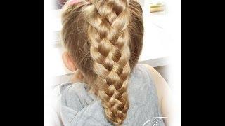 warkocz z 5 ciu pasm   5 strand briad   fryzury dziewczęce